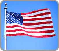 Photograph of the American flag